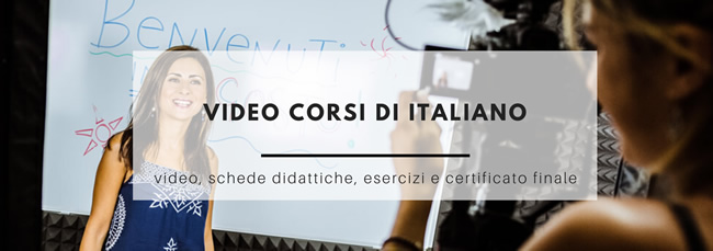 video corsi di italiano